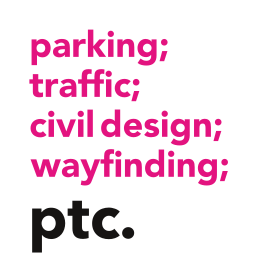 parking; traffic engineering; civil design; wayfinding; ptc.