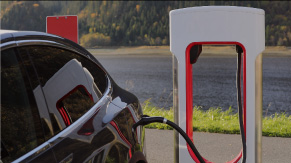Electric vehicles charging points in car parks